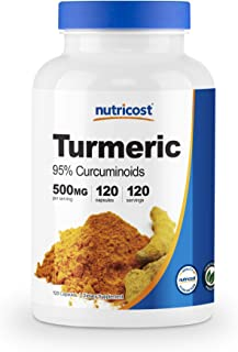 Nutricost Turmeric Curcumin with BioPerine (95% Curcuminoids) 120 Capsules, 500mg Per Cap, Gluten Free, Non-GMO