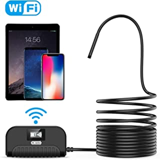 Wireless Endoscope, Dr.meter 2.0 Megapixels HD IP68 Waterproof Inspection Camera with Semi-Rigid 3.5M (11.5ft) Cable and 6 LEDs WiFi Borescope for iOS and Android Smartphone, Samsung, iPad, Tablet