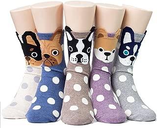 Womens Animal Socks Cartoon Socks Colorful Dog Cat Socks Funny Casual Cotton Crew Socks