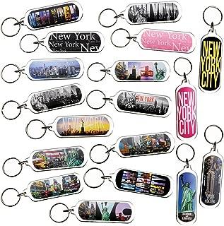 Ultimate Collectible New York NY NYC Manhattan Landmarks Photo Keychain Key Ring Gift Souvenir Set (18pk_SetA)