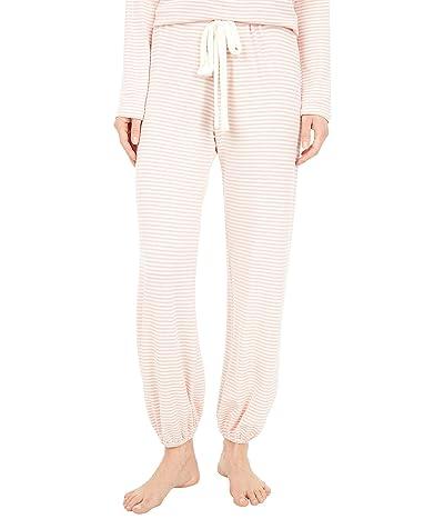 Eberjey Sadie Stripes Cropped Pants (Rose Tan/Ivory) Women