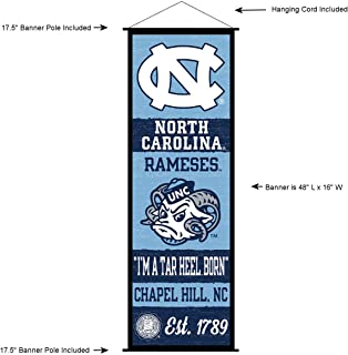 North Carolina Tar Heels Banner and Scroll Sign
