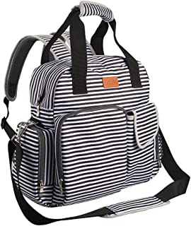 Diaper Bag Backpack for Baby Care, Multi Function Waterproof Insulated and Cooler Tote Travel Backpack with 11 Spacious Pockets (Adjustable Straps, Nappy Bag, Tissue Pocket)