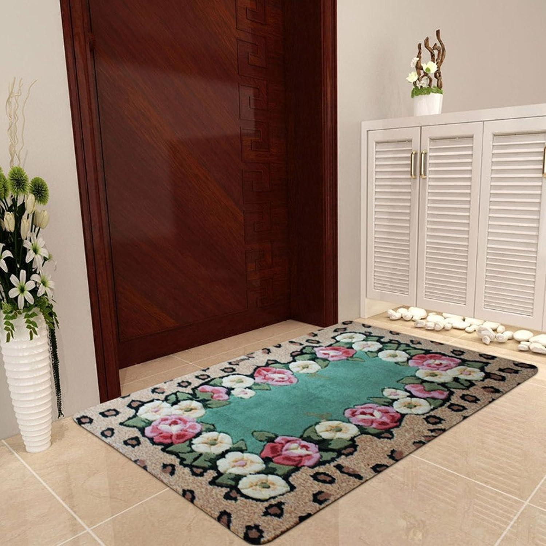 European Style,Rural,Floor Mat  Washing Door Mats Hall,Door Mats Living Room,Bedroom,Tea Table,Entrance,Non-slip Mat-C 70x140cm(28x55inch)