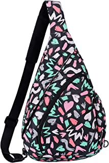 Smith Sursee Sling Backpack - Crossbody Backpacks Rope Bag Multipurpose Daypacks for Man Women Lady Girl Teens (love graffiti)
