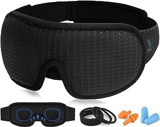 Sleep Eye Mask for Men Women, 3D Contoured Cup Sleeping Mask & Blindfold, Concave Molded Night Sleep Masks , 100% Blackout...