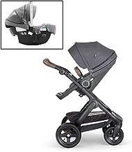 Stokke Black Melange Trailz Stroller and Black Melange Pipa by Nuna Car Seat Bundle