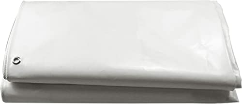 DONGYUER Tente extérieure épaissir imperméable bache Toile écran Solaire PVC Couteau grattant Blanc bache en Plastique bache,3  4m