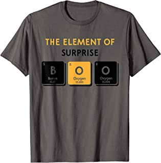 Boo Element of Surprise Halloween Periodic Table DIY Costume T-Shirt