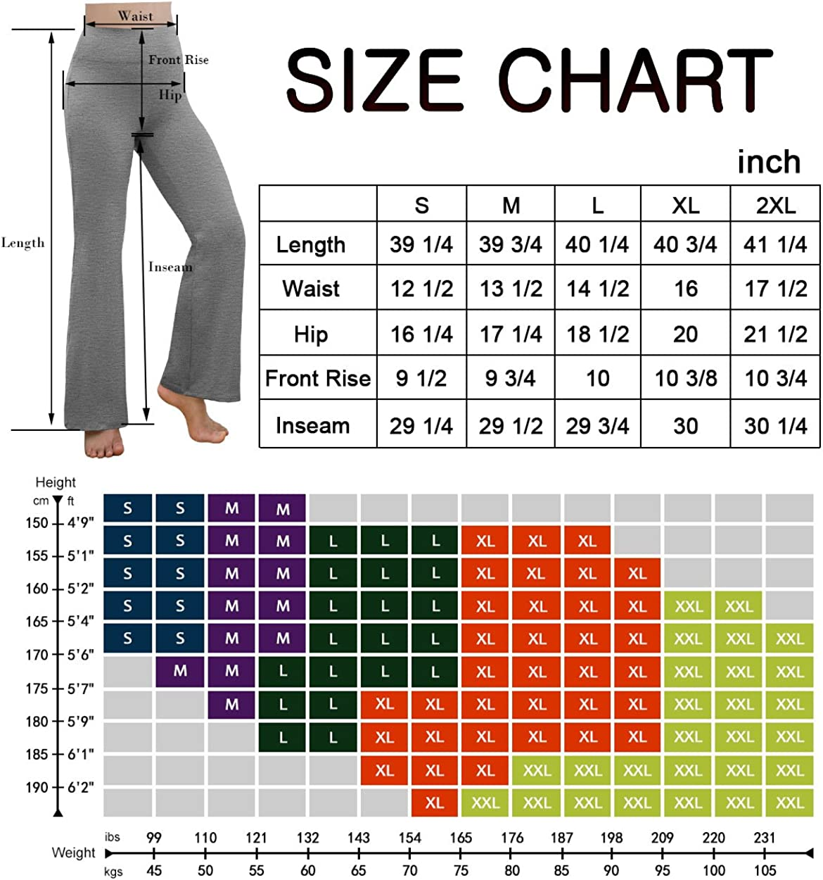 REETOYO Bootcut Yoga Pants with Inner Pocket for Women High Waist Workout Bootleg Pants Tummy Control Work Pants for Women