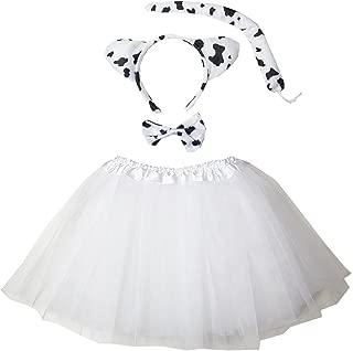 Kirei Sui Kids Animal Costume Ears Headband Bowtie Tail Tutu Set