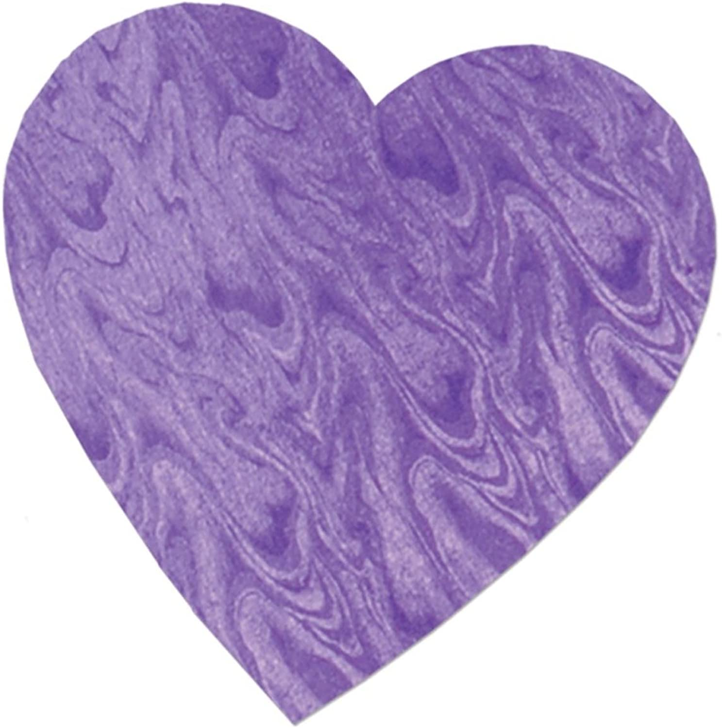 Party Central Pack of 36 Embossed Purple Foil Heart Cutout Valentine Decorations 8.5