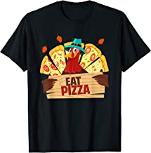 Turkey Eat Pizza Shirt Kids Adult Vegan Funny Thanksgiving T-Shirt