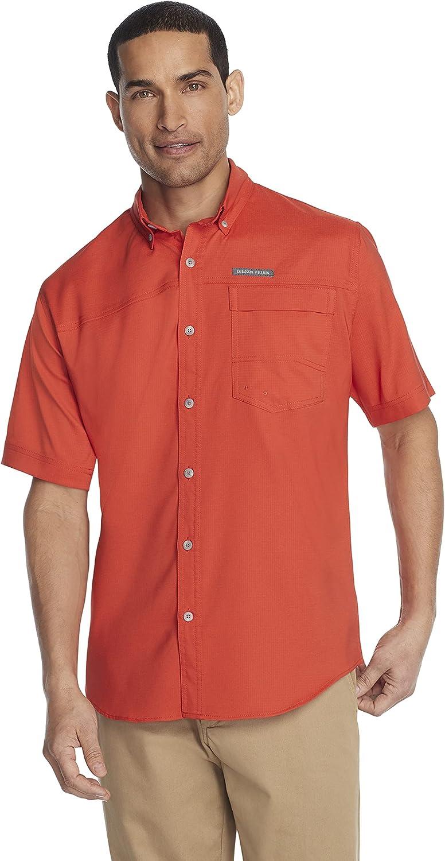 G.H. Bass New OFFicial store life Co. Men's Explorer Solid Sleeve Shirt Fishing Short