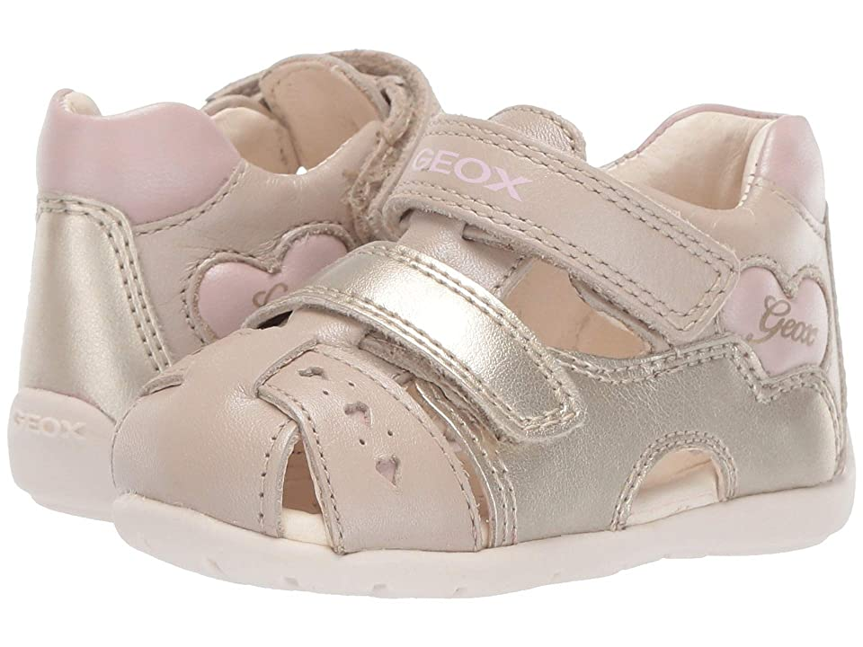 Geox Kids Kaytan Girl 52 (Infant/Toddler) (Beige/Pink) Girl