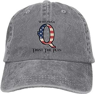 Q Patriot Trust The Plan WWG1WGA Denim Dad Cap Baseball Hat Adjustable Sun Cap