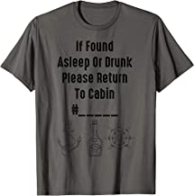 If Found Asleep Or Drunk Please Return To Cabin Funny Cruise T-Shirt