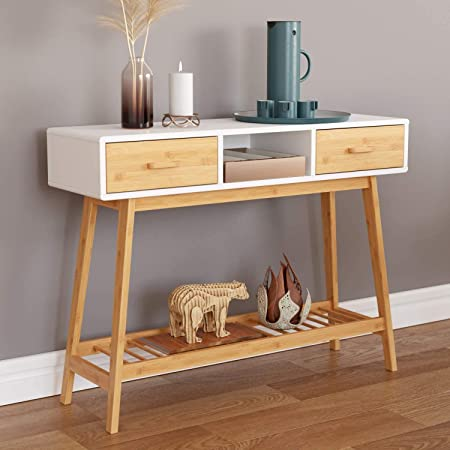28+ Cozayh rustic console table with 2 drawers entryway hallway farmhouse country style most popular