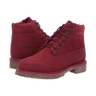 Timberland Kids 6 Premium Waterproof Boot (Little Kid) (Burgundy Nubuck) Kids Shoes