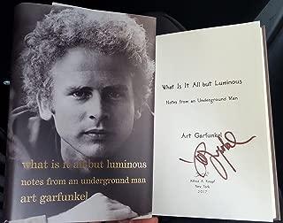 Art Garfunkel signed book What Is It All but Luminous 1st Print Simon Garfunkel