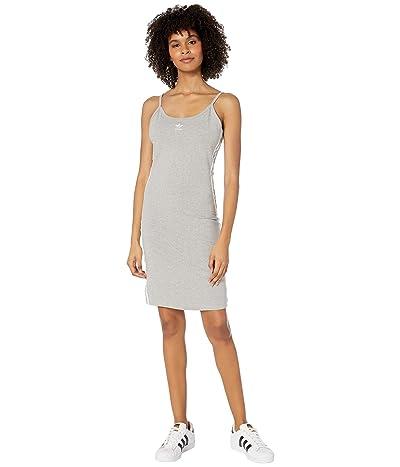 adidas Originals adiColor Tank Dress (Medium Grey Heather/White) Women