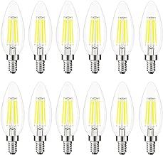 Kohree C35 LED Candelabra Bulb, 4 Watt 5000K Daylight White, E12 Led Bulb Base 40W Equivalent LED Edison Filament Chandelier Candle Light Bulb Non-Dimmable 12 Pack, UL Listed