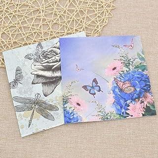 HXQCZ 20ps/bag Butterfly Paper Towel Napkin Tissue Cartoon Printing Paper Handkerchiefs Servetten Serwetki Restaurant Use ...