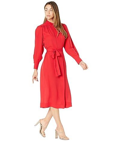 Rebecca Taylor Long Sleeve Georgette Dress Women