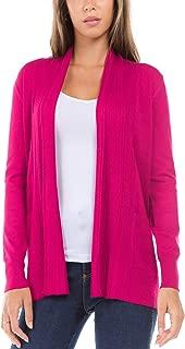 Women's Regular Long Sleeve Open Front Draped Shawl Collar Cardigan