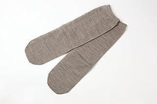 冷え取り靴下 ウール100%先丸ソックス カラー (杢ベージュ)
