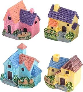 PIXNOR Miniature Dollhouse Bonsai Craft DIY Garden Landscape DIY Villa Decor 4Pcs
