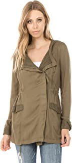 Ashley by 26 International - Women's Lightweight Anorak with Lace Detail