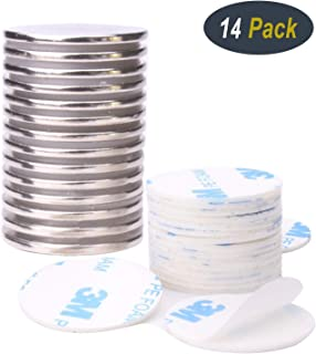 14Pcs Neodymium Disc Magnets, Strong Rare Earth Magnets with 14Pcs Double-sided Adhesive, Used to metallic and non-metallic Surface, 1.26