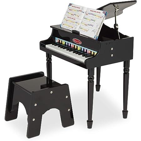 Piano De Cola Clásico Melissa Doug Con 30 Teclas Cancionero Codificado Por Colores Y Taburete Firme Ideal Para Aprender A Tocar Melissa Doug Toys Games
