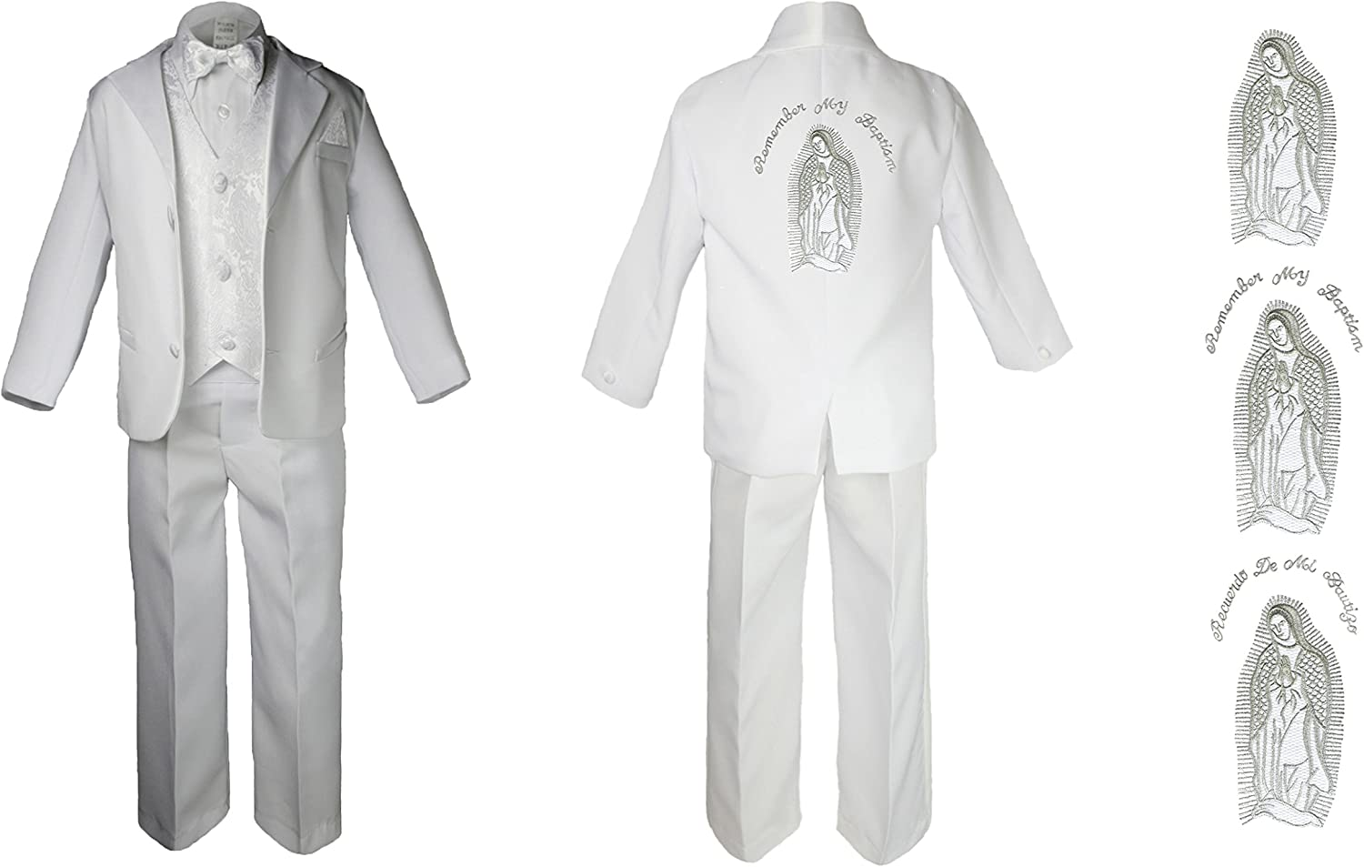 Baby Boy Genuine Free Shipping Christening Baptism Low price Formal Suit Maria White Mary Silver