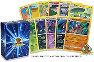 Pokemon Cards 50 Card Assorted Lot - Commons - Uncommons - Holos - Rares! Pokemon Card Random Repack! Includes Golden Ground Storage Box!