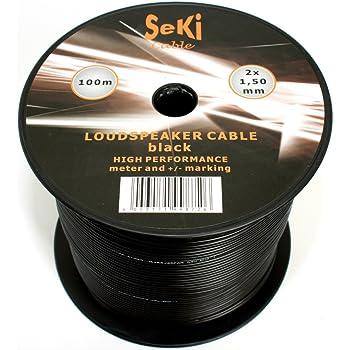 100 M 2x 0,75 mm²Câble haut-parleur Boxe Câble auto car voiture hifi home cinéma