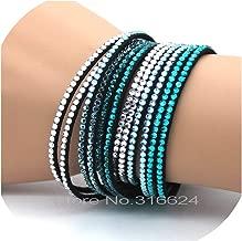 Zutty 2019 Wedding Jewelry Crystal Leather Bracelets for Men Women Trendy Mosaic Rhinestone Classic Charm Bracelets.