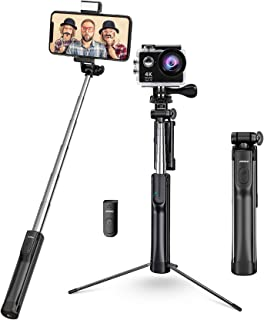 Mpow Selfie Stick, Phone & Camera Tripod Selfie Stick Monopod with 3 Level Fill Light Bluetooth Remote, Compatible with iP...
