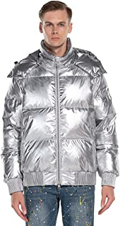 Sponsored Ad - Extreme Pop Mens Down Jacket with Pure White Goose Down Winter Shiny Jacket UK Brand