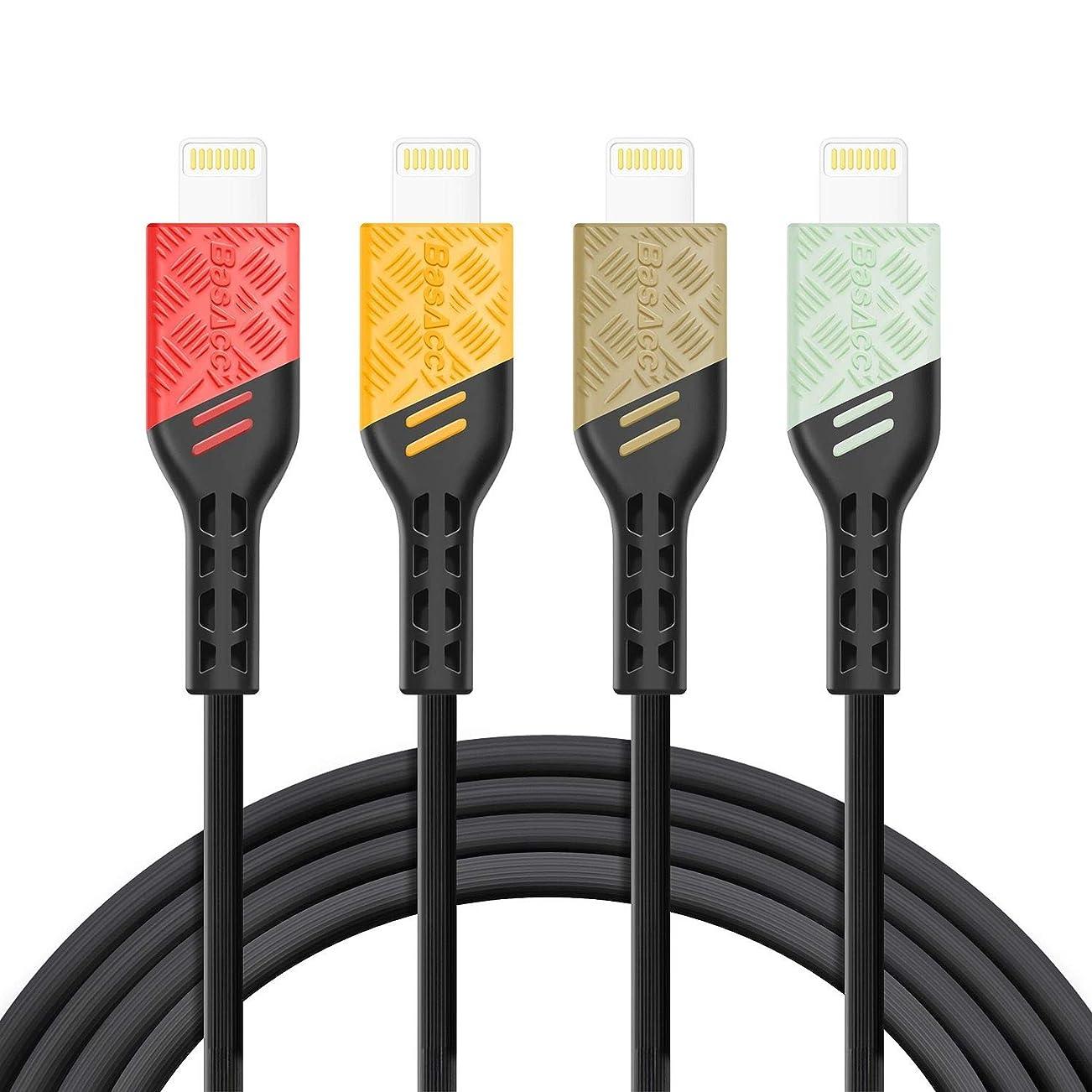 無限ゲージ吹雪BasAcc 交換用 Apple 3.3フィート MFI認定 Lightning - USB タフケーブル BasAcc製 交換用 [Viper Series] 3.3 feet 2257485