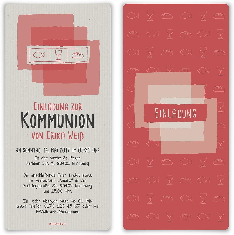 Kommunion Einladungskarten (60 Stück) - Abendmahl - - - Kommunionskarten Einladung B06XJ5JCJ2 | Hohe Qualität und geringer Aufwand  c92ede