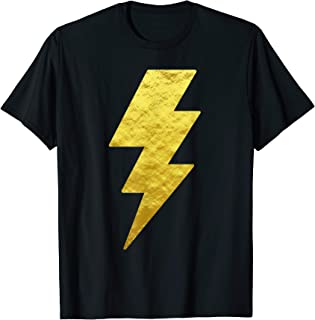 Lightning Bolt Tshirt Gold Art Design Tee for Men Women