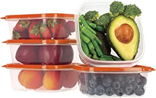 Oursson Ensemble de boîtes de Rangement Alimentaires-À Usage Multiple-Lot de 5 récipients Alimentaires en Plastique sans B...