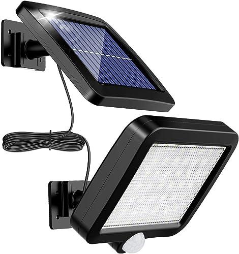 Lámpara Solar Para Exterior, MPJ Lámpara Solar 56 Led Para Exteriores Con Detector De Movimiento, Resistente Al Agua ...