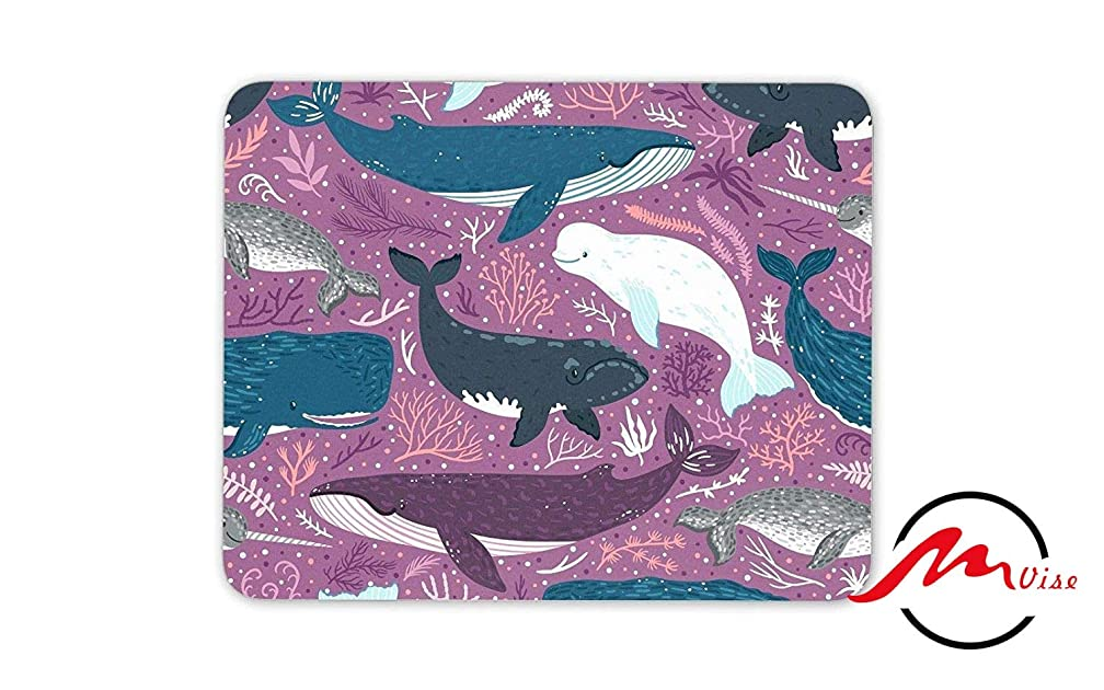 ZMvise Pretty Whales Background Fashion Cartoon Mouse Pad Mat Custom Rectangle Gaming Mousepad