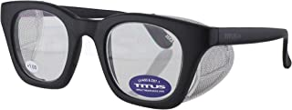 Retro Style Reader Magnification Safety Glasses with Side Shield (1.0x Magnification)