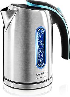 comprar comparacion Cecotec Hervidor de Agua Eléctrico ThermoSense 220 Steel. 1,2 litros, Libre de BPA, Acero Inoxidable, Base 360º, Filtro An...