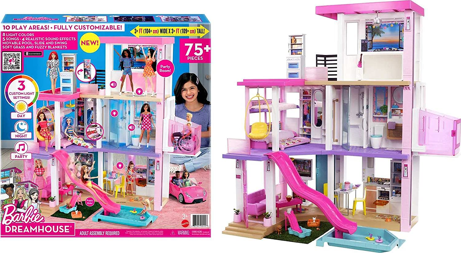 Barbie Dreamhouse Dollhouse (3.75-Ft) - Assembled set and the Box