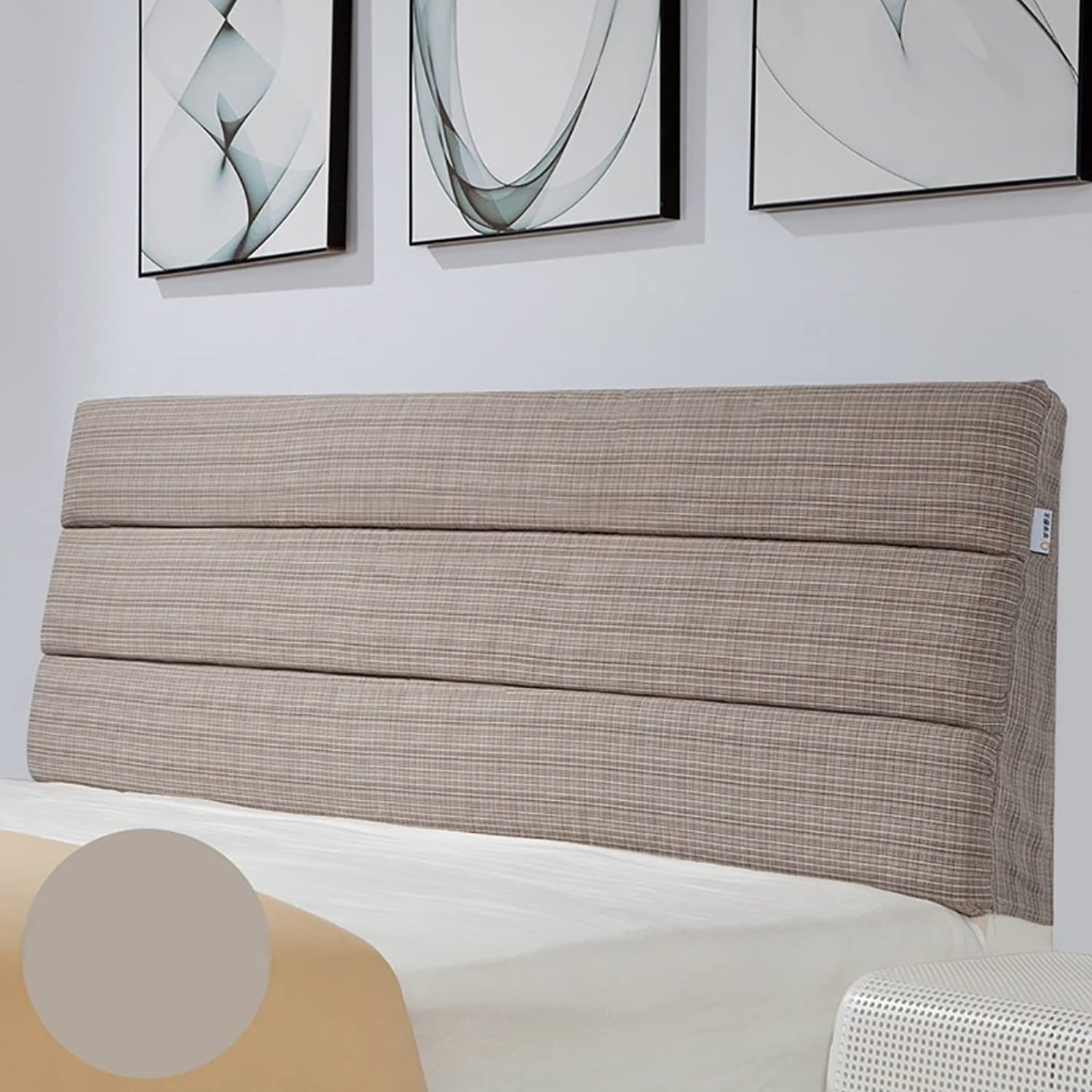 Headboard Bed Backrest Cushion Bed Cushion Bedside Pillow Headboard Cotton Linen Pillow Lumbar Support Detachable 12 Solid colors 5 Sizes